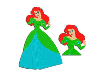 Mermaid Embroidery design - Ariel - Machine embroidery design