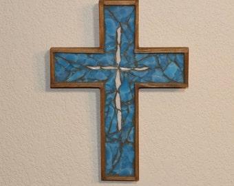 Baptism Gift for Boys / First Communion Gift / Christening Gift / Mosaic Cross / Religious Gift