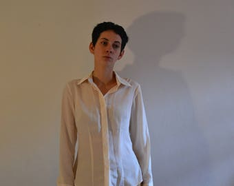 Silk White Blouse Vintage