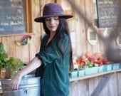 Purple Cotton Sun Hat, Womens Hats, Beach Hat, Summer Hat, Wide brim Hat, Garden Hat, Mothers Day Gift, Easter Hat