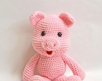 Crochet Pig, Amigurumi Pig, Pig Stuffed Animal, Stuffed Pig, Pink Pig