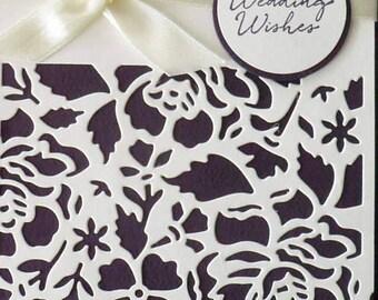 Custom Wedding card, Handmade greeting card, Handmade Wedding Card, Wedding Wishes card, Wedding gift, embellished card