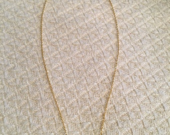 Silver curved bar necklace ; matte gold chain ; 16-inch chain with one-inch extender