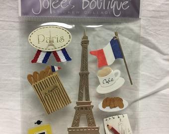 Jolee's Boutique Dimensional Paris Sticker, France Sticker