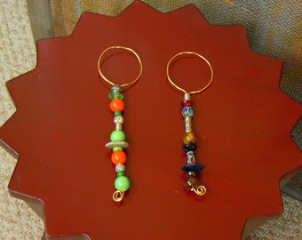 Boho Beaded Bubble Wands- beaded, wire, bubble makers