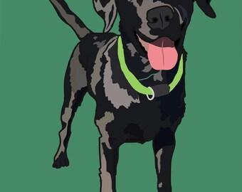 Custom Digital Pet Drawing (Full Body One Pet)