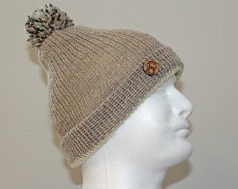 Mens toque, wool hat, knitted hat, wool, unique, handmade hats, men, women, wool knit, pom pom hat, warm, knitted hats