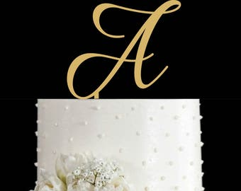 Letter Cake Toppers, Wedding Cake Toppers, Letter Personalized Monogram,Name Initial Letter, Cake Topper for Wedding, Anniversary, Birthday
