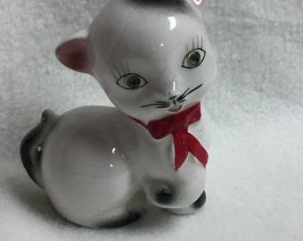 Cat with Clear Rhinestone Eyes (#033)