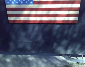 American Flag--wood
