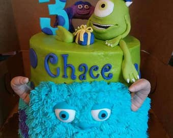Fondant Monsters Inc Cake Toppers (set of 3)