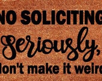No Soliciting Door Mat