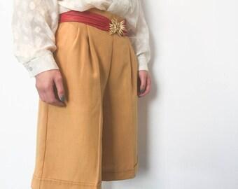 Vintage Mustard Culotte, Vintage Shorts, Vintage Culotte, Vintage Clothing, Women's Vintage, Vintage Pants, Vintage Clothes, NZ Vintage, Her