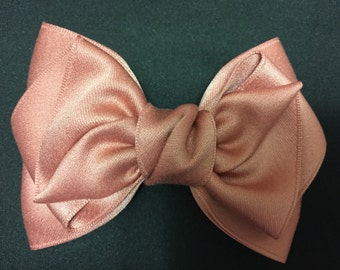 Rose gold pretty Ribbon / hair bow