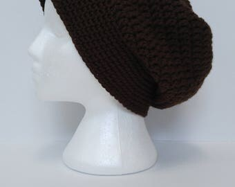 Men's Slouchy Beanie | Handmade Crochet | brown hat | men's slouchy hat | knit hat | boho | boyfriend gift
