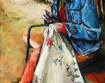 Cowboy sticker painting print canvas wall decoration art painting