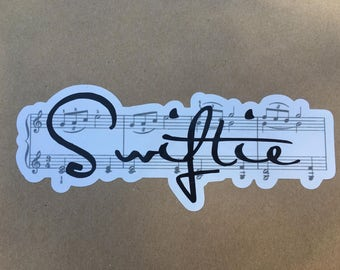 Swiftie Musical Die Cut Bumper Sticker