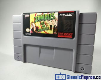 Zombies Ate My Neighbors - Super Nintendo Snes Reproduction Game - USA/NTSC Version - Fast US Shipping