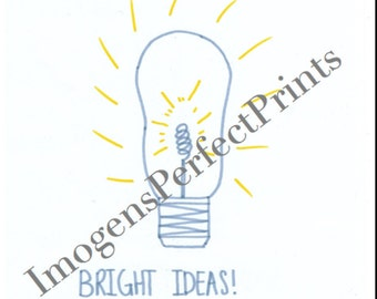 Bright Ideas! Handmade poster