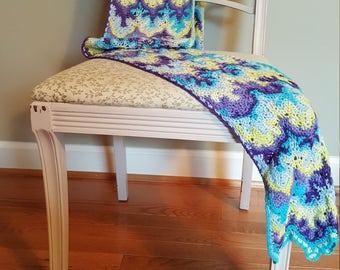 "Organic Crochet Scarf ""Discrete Geometry"""