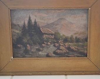REGINA CONTI (1890 - 1960) Swiss - Listed Artist - Signed - Original oil painting Antique