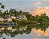 Sunrise at St Clement Truro. DL Photo Landscape Greeting Card. New Range of Cornish Colours. Great memories of Cornwall.