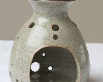 Vintage Ceramic Candle Burner, Ceramic Candle Holder 11 cm tall