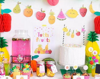 Tutti frutti party printable Pack