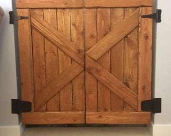 Wooden Barn Door Baby Gate (Split Door)