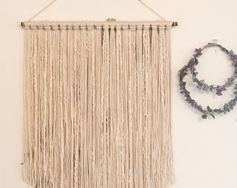 Boho Wall Hanging, Macrame Undone, Nursery Decor, Boho Decor, Tribal Decor, Wall Decor