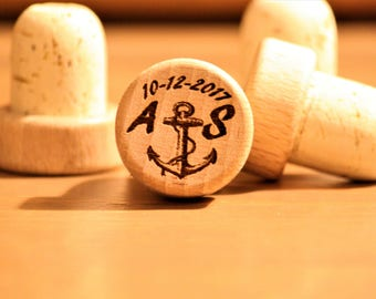 Personalized Wine Stoppers, Wedding Wine Stoppers, Wine Themed Wedding Favors, Personalized Wedding Favors, Bottle Stoppers