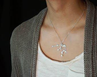 Aquarius Necklace, Zodiac Necklace, Birthday, January, February, Stars, Constellation Necklace, Astrology Necklace, Hand Made, Horoscope