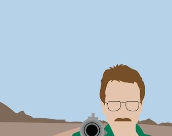 Breaking Bad Walter White Heisenberg Minimalist Poster