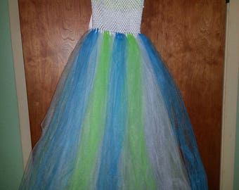 Bright green tutu dress for  child