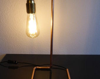 """Copper"" rotatable table lamp"