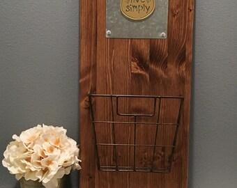 Mail Organizer - Wall Decor - Rustic Decor - Wood Decor - Home Decor - Rustic Style - Farmhouse Style - Wood - Handmade - Farmhouse