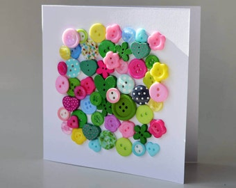 Button greeting card with envelope 5x5