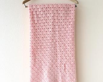 Pink Mid Century Throw Blanket