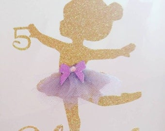 ballerina cake topper,ballerina topper,ballerina birthday