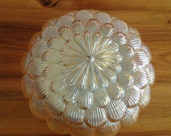 Ceiling lamp / glass gold flower applique