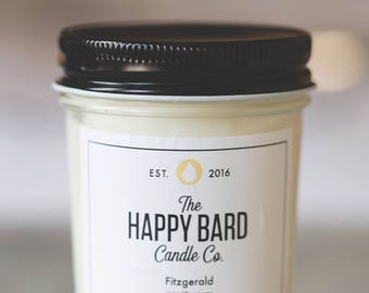 Fitzgerald – Crisp Champagne   Hand poured soy candle with wooden wick