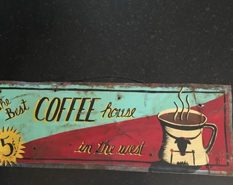 Antique Signs Antique sign Coffee Sign Kitchen Sign AntiqueSign Custom Sign Antique Decor Vintage Sign Antique advertising sign Coffee sign