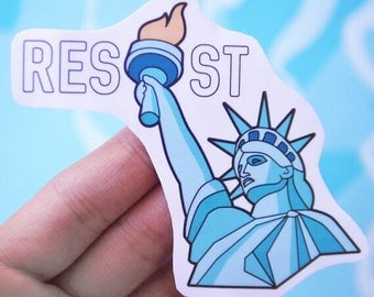Cool Resist Sticker - Resistance Vinyl Sticker - Political Social Justice Stickers - Lives Matter Sticker - Anti Trump Stickers - S52