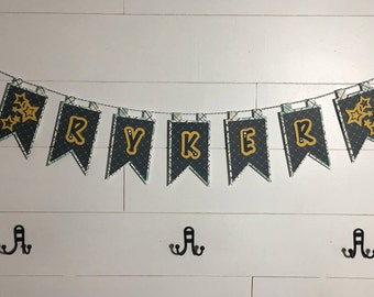 Custom Baby Boy Name Banner