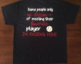 Baseball Mom T-Shirt, customized sport parent T-Shirt