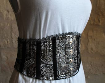 Small silver corset belt