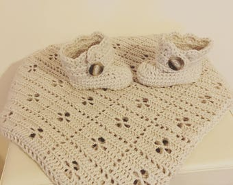 Hand Made Crochet  Baby Blanket