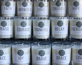 LIVE A WORD 13OZ Glass Candle