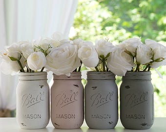 Chalk painted Mason Jars - Various Sizes