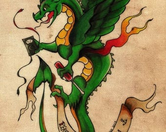 Matdragon Tattoo Design